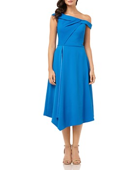 Carmen Marc Valvo Infusion - Asymmetric Off-the-Shoulder Dress