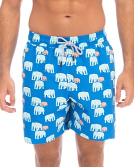TOM & TEDDY - Elephant-Print Swim Trunks