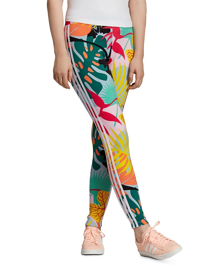 2734b4198dc60b Adidas Tropical Triple Stripe Leggings | Bloomingdale's
