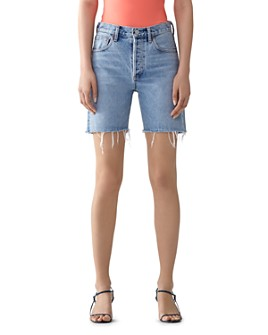 AGOLDE - Rumi Mid-Length Denim Shorts in Renewal