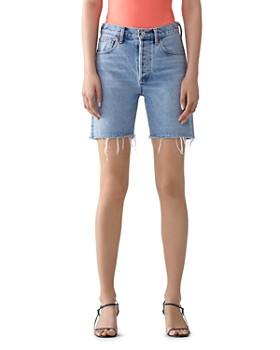 AGOLDE - Rumi Mid-Length Denim Shorts in Renewal