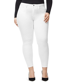 Good American - Good Legs Crop Skinny Jeans in White001