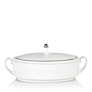 Wedgwood - Blanc Sur Blanc Covered Vegetable Bowl