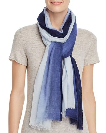 Echo - Dip-Dye Lightweight Wool Scarf