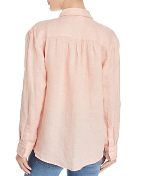 Joie - Lidelle Smocked-Detail Button-Down Shirt