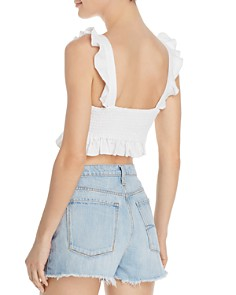 Show Me Your MuMu - Delia Flounce-Trimmed Cropped Top