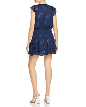 Ramy Brook - Simone Leaf-Print Mini Dress