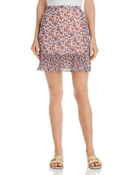 The East Order - Nilaya Pleated Floral-Print Mini Skirt
