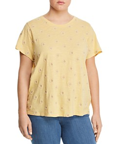 Lucky Brand Plus - Daisy Embroidered Tee
