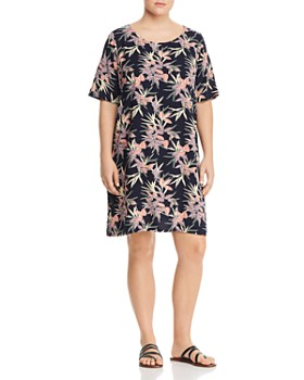 7d11d900d0b6 JUNAROSE Plus - Arya Leaf-Print Shift Dress ...