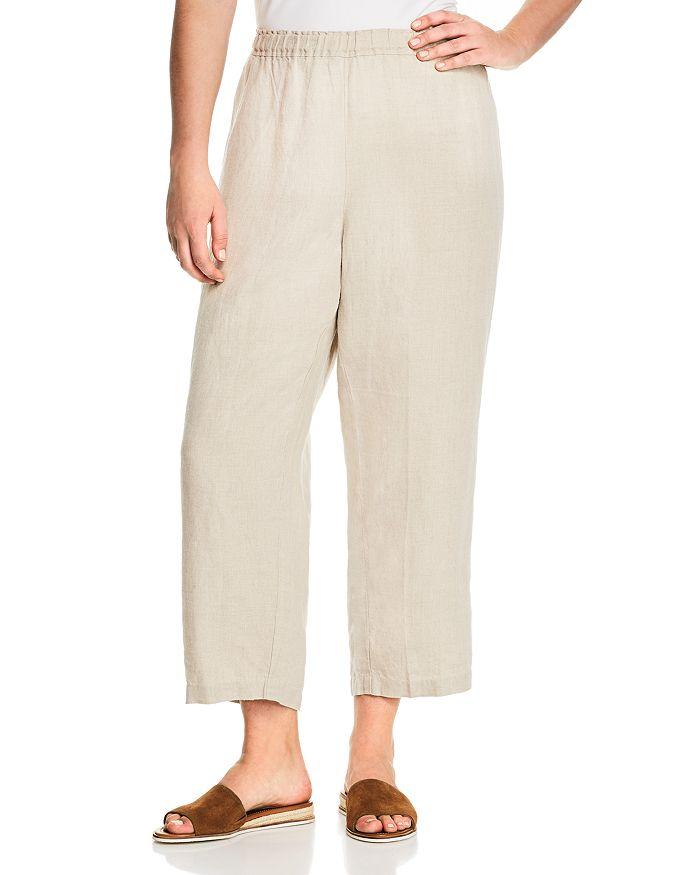 Eileen Fisher Plus - Organic Linen Cropped Pants