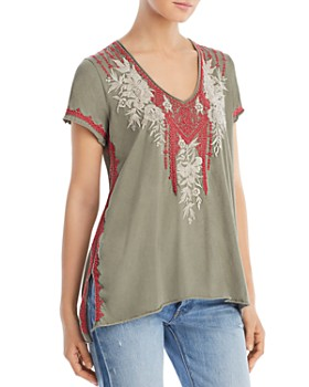 Johnny Was - Camille Embroidered Tee