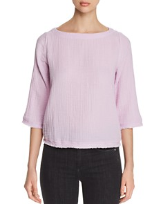 Eileen Fisher Petites - Textured Organic Cotton Top