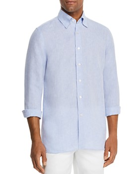 9182df73161 Canali - Linen Regular Fit Sport Shirt ...