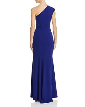 AQUA - Pleated-Shoulder Gown - 100% Exclusive