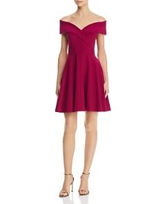 AQUA - Off-the-Shoulder Dress - 100% Exclusive
