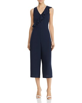 Adrianna Papell - Flounce-Trim Cropped Jumpsuit