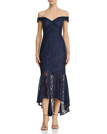 Avery G - Off-the-Shoulder Lace Dress