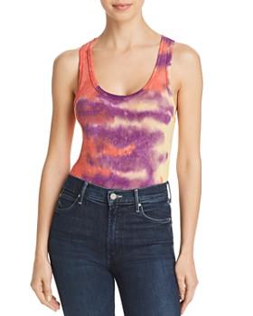 AGOLDE - Ribbed Tie-Dye Bodysuit