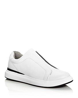 KARL LAGERFELD PARIS - Men's Leather Slip-On Sneakers