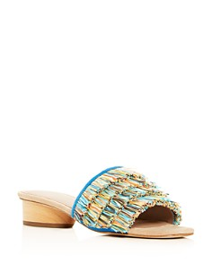 Donald Pliner - Women's Reise Fringe Slide Sandals