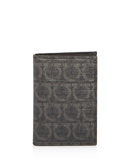 Salvatore Ferragamo - Gancini-Print Vertical Card Case