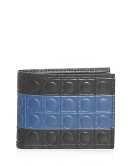 Salvatore Ferragamo - Firenze Gamma Stripe Leather Bi-Fold Wallet