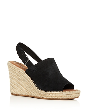 Toms Sandals WOMEN'S MONICA SLINGBACK ESPADRILLE WEDGE SANDALS