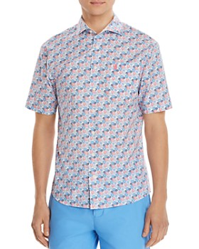 Johnnie-O - Montego Short-Sleeve Floral-Print Regular Fit Shirt