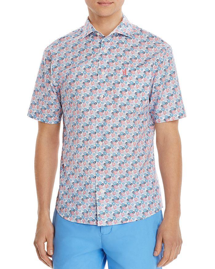 Johnnie-O - Montego Short-Sleeve Floral-Print Regular Fit Shirt