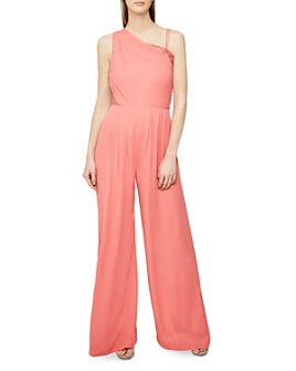 REISS - Polly One-Shoulder Jumpsuit