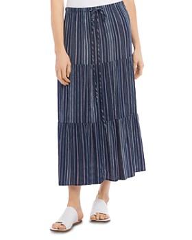Karen Kane - Tiered Striped Maxi Skirt