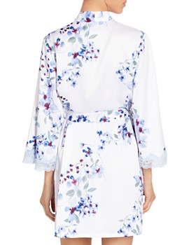 In Bloom by Jonquil - Floral Satin Wrap Robe