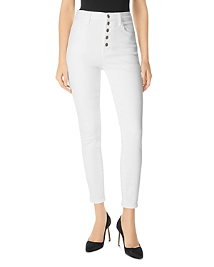 J Brand Jeans LILLIE HIGH-RISE SKINNY JEANS IN WHITE