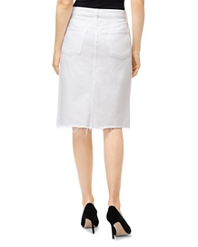 J Brand - Trystan Denim Pencil Skirt in White