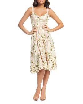 Dress the Population - Carmen Floral-Lace Dress