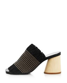 Proenza Schouler - Women's Fringe Wood Heel Sandals