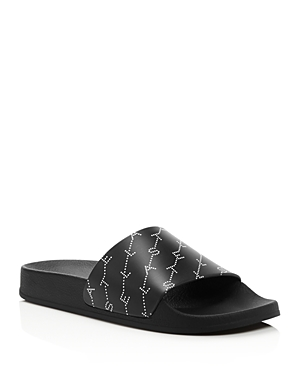 Stella Mccartney Slippers STELLA MCCARTNEY WOMEN'S MONOGRAM SLIDE SANDALS
