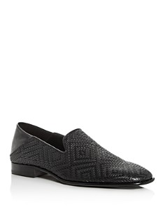 Jimmy Choo - Men's Thame Embossed Leather Smoking Slippers