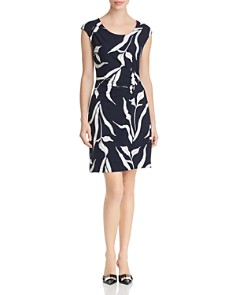 NIC and ZOE - Iris Printed Twist-Front Dress