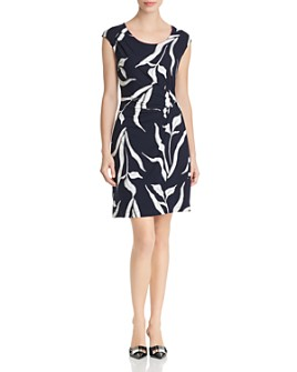 NIC and ZOE - Iris Printed Twist-Front Dress