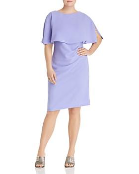 986e1f326bd2e Adrianna Papell Plus - Flutter Cape Sheath Dress ...