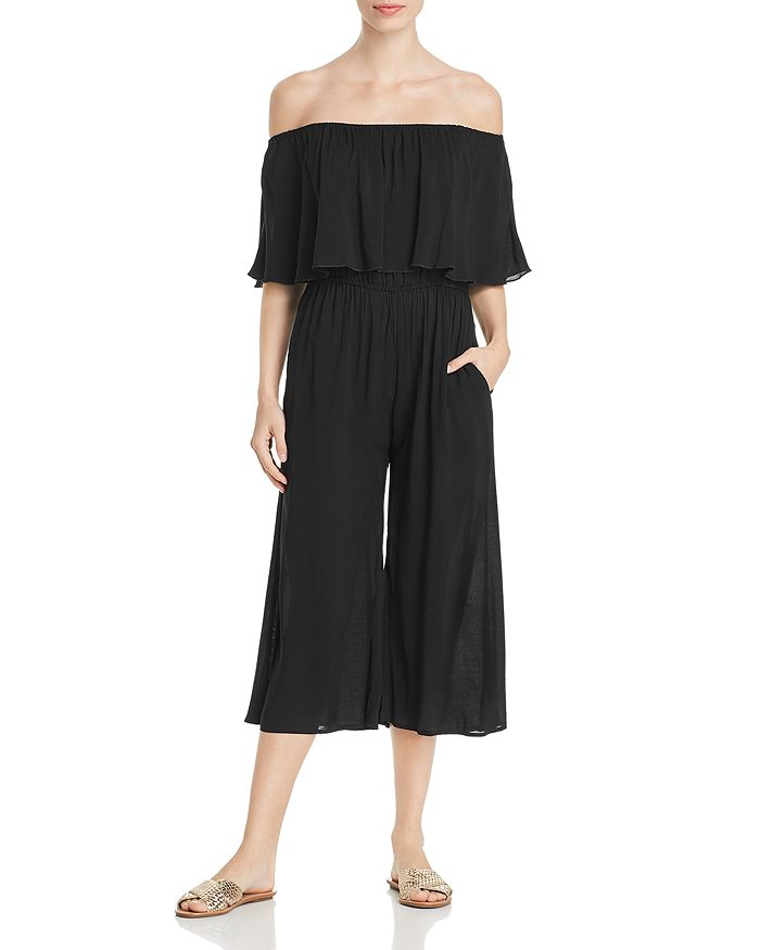 8289614a77 Elan Off-the-Shoulder Cropped Jumpsuit | Bloomingdale's