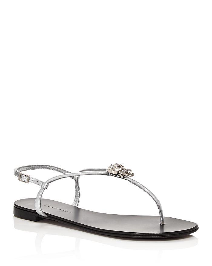 Giuseppe Zanotti - Women's Crystal-Embellished Thong Sandals