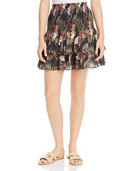 Rebecca Minkoff - Amari Smocked Printed Cotton Skirt
