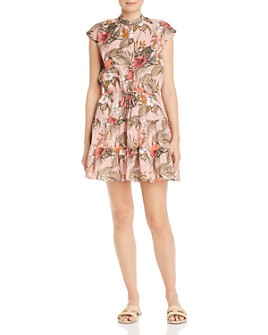 Rebecca Minkoff - Ollie Botanical-Print Cotton Mini Dress