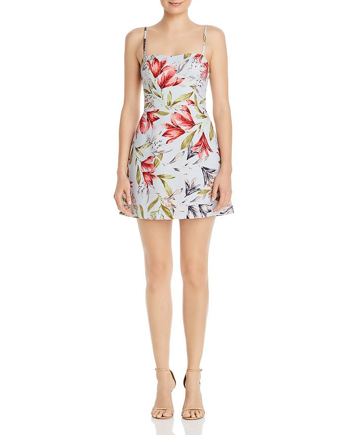 FRENCH CONNECTION - Cadencia Whisper Sweetheart Floral-Print Mini Dress