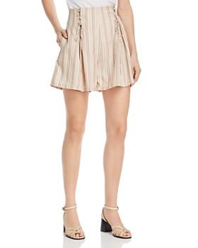 Joie - Boseda Striped Lace-Up Shorts