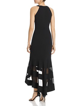 Avery G - Mesh-Trim Midi Dress
