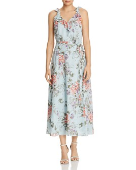 nanette Nanette Lepore - Tie-Shoulder Floral Dress